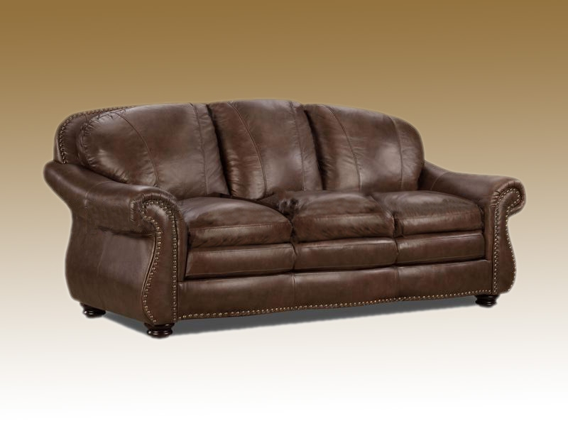 Roll Arm Luxury Leather Sofa Custom Furniture Couch well regarding Full Grain Leather Sofas (Image 17 of 20)