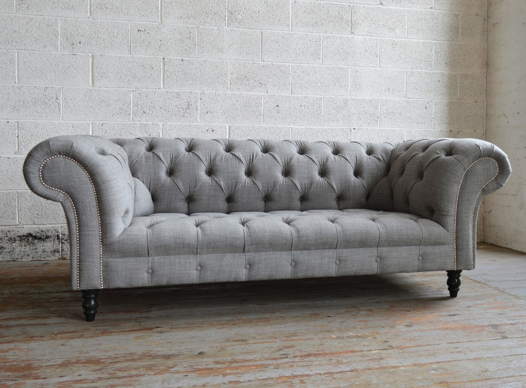 Romford Wool Chesterfield Sofa Abode Sofas well with regard to Chesterfield Furniture (Image 17 of 20)