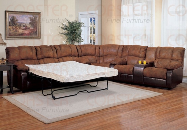 Ronan 3 Piece Sectional Set With Queen Sofa Sleeper In Two Tone perfectly throughout 3 Piece Sectional Sleeper Sofa (Image 10 of 20)