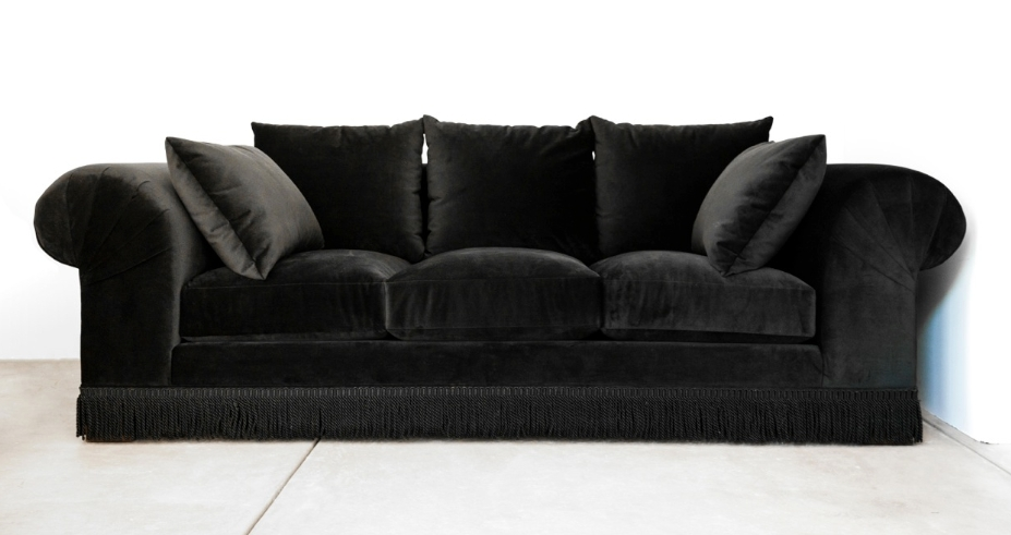 Rosa Beltran Design Opulent Decor And A Stunning Black Velvet definitely for Black Velvet Sofas (Image 16 of 20)