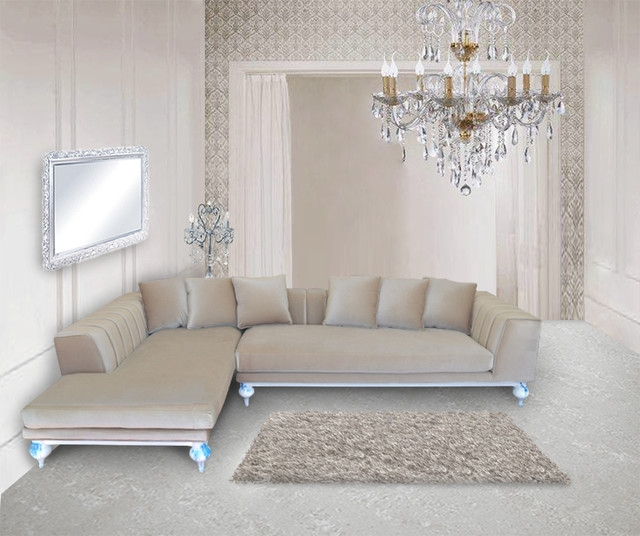 Rosalind Luxury Living Room Sectional properly within Expensive Sectional Sofas (Image 15 of 20)