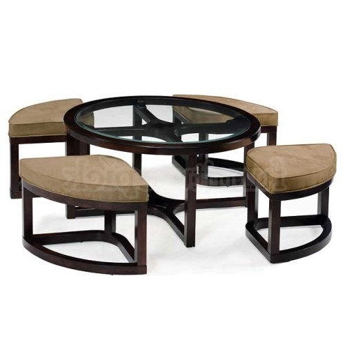 Round Coffee Table With Nesting Stools Coffee Table Stools effectively within Coffee Tables With Nesting Stools (Image 18 of 20)