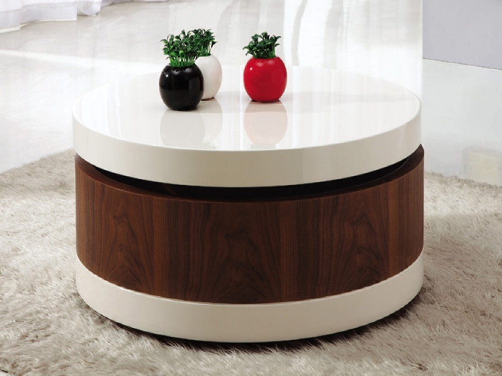 Round Coffee Table With Storage Storage Coffee Tables In The Round most certainly inside Round Coffee Tables With Storages (Image 18 of 20)