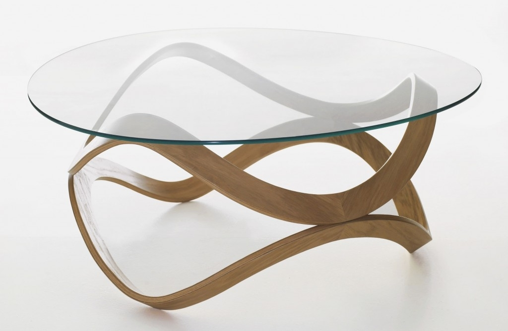 Round Glass Top Coffee Table clearly pertaining to Unique Small Glass Coffee Table (Image 14 of 30)