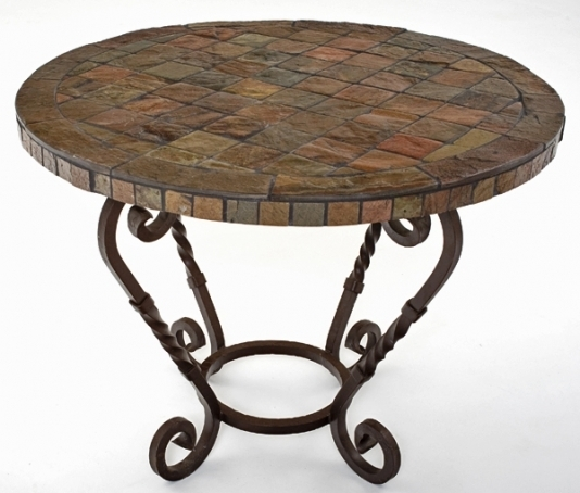 Round Slate Top Coffee Table Drxlax definitely intended for Round Slate Top Coffee Tables (Image 15 of 20)