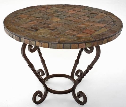 Round Slate Top Coffee Table Drxlax definitely intended for Round Slate Top Coffee Tables (Image 15 of 20)