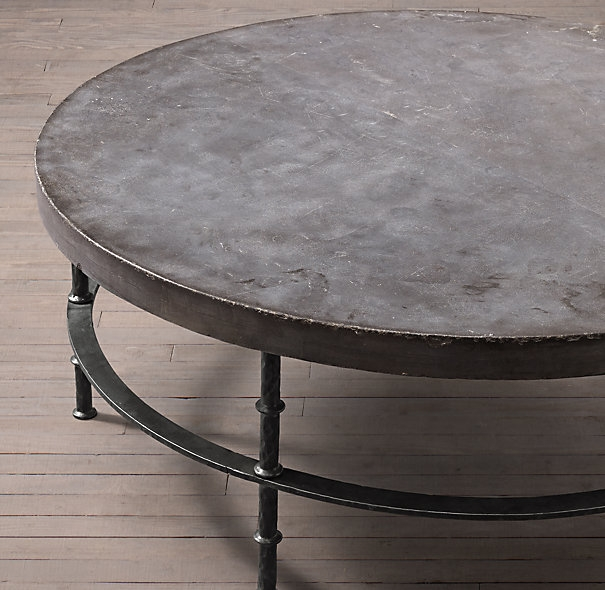 Rowen Bluestone Round Coffee Table Tarantos Sunroom Pinterest well for Oversized Round Coffee Tables (Image 19 of 20)