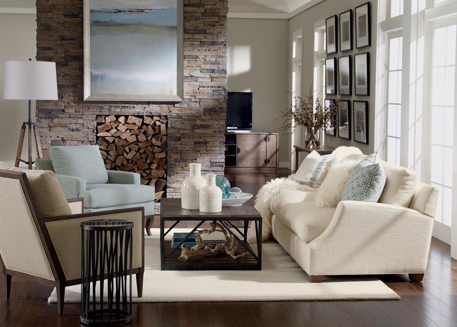 Rustic Chic Living Room Ethan Allen effectively within Ethan Allen Sofas and Chairs (Image 10 of 20)