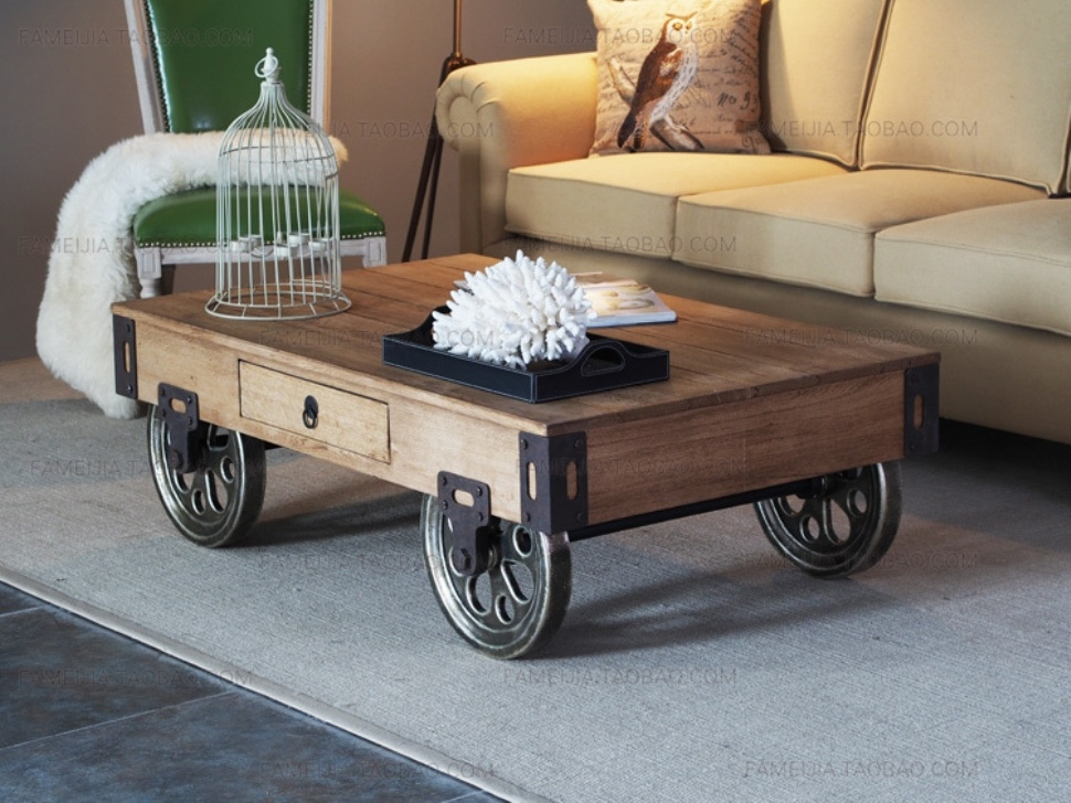 Featured Photo of Rustic Coffee Table With Wheels