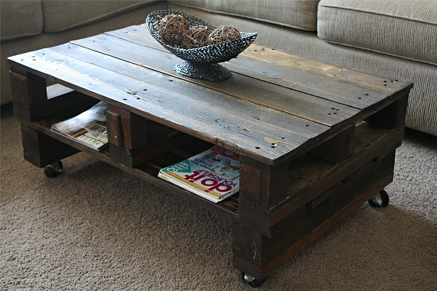 Rustic Coffee Table With Wheels Photo Industrial Rustic Coffee well in Rustic Coffee Table With Wheels (Image 19 of 20)