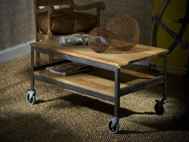 Rustic Coffee Table With Wheels Worldtipitaka certainly intended for Rustic Coffee Table With Wheels (Image 20 of 20)