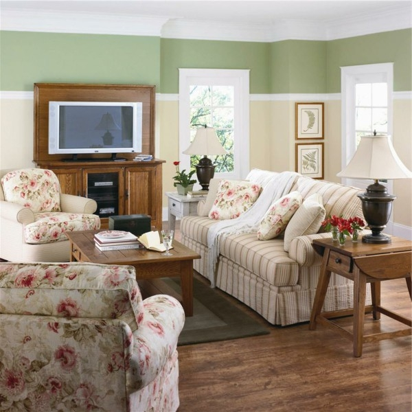 Rustic House Sofas Help The Living Room Of Cozy For Release definitely for Floral Sofas And Chairs (Image 19 of 20)