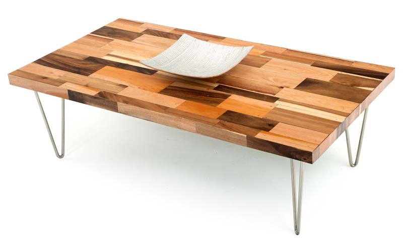 Rustic Modern Coffee Table Table And Estate certainly intended for Wood Modern Coffee Tables (Image 17 of 20)