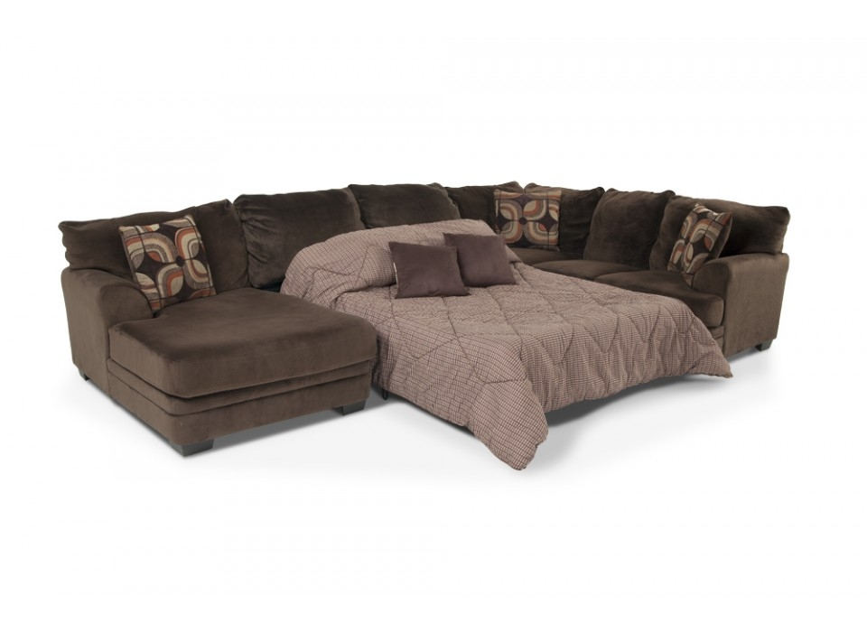 Featured Photo of 3 Piece Sectional Sleeper Sofa