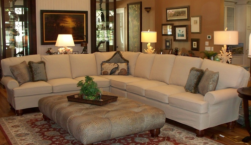 Sectional Slipcovers White Slipcovered Sectional Sofa Couch nicely pertaining to Slipcover For Leather Sectional Sofas (Image 15 of 20)