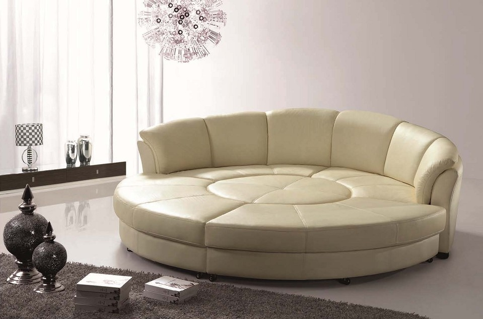 Sectional Sofa Beds Sleepers Sectional Leather Sofa Bed With well with Sofa Chair And Ottoman (Image 12 of 20)