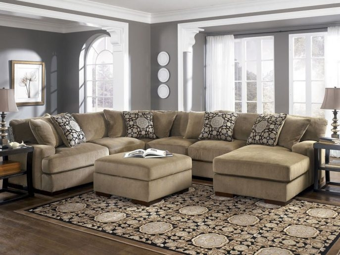 Sectional Sofa Excellent Abson Living Charlotte Beige most certainly throughout Abbyson Living Charlotte Beige Sectional Sofa and Ottoman (Image 14 of 20)