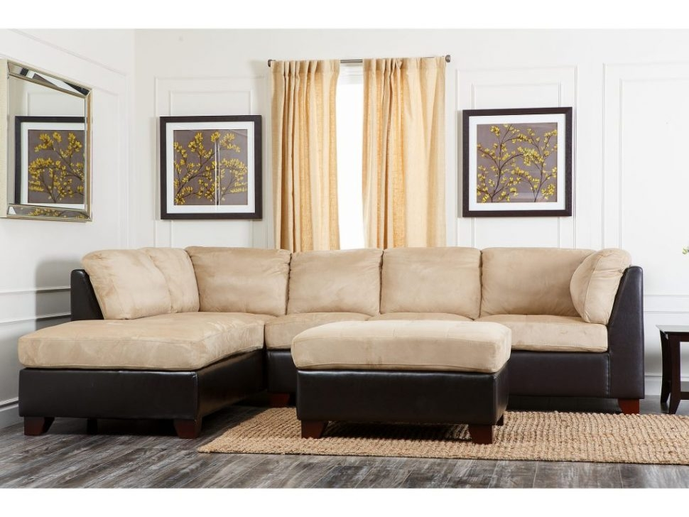 Sectional Sofa Excellent Abson Living Charlotte Beige very well in Abbyson Living Charlotte Beige Sectional Sofa and Ottoman (Image 16 of 20)