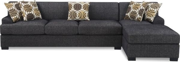 Sectional Sofas Easy Home Concepts properly in Contemporary Black Leather Sectional Sofa Left Side Chaise (Image 20 of 20)