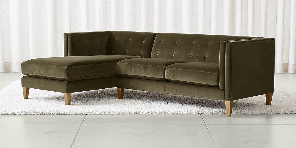 Sectional Sofas Leather And Fabric Crate And Barrel definitely regarding 10 Foot Sectional Sofa (Image 13 of 20)