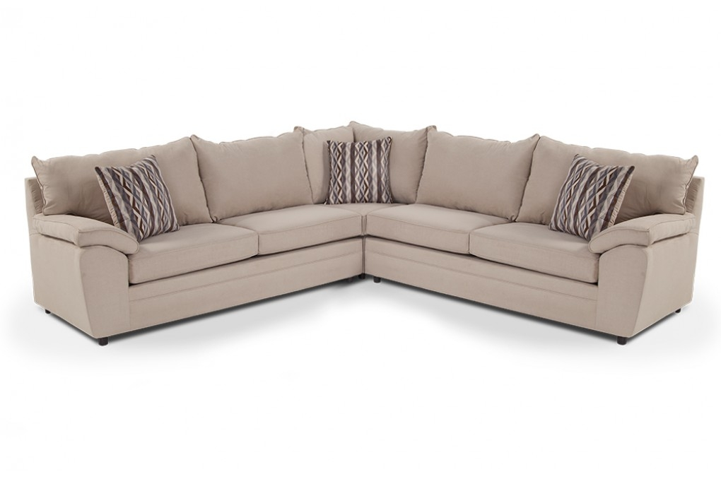 Sectional Sofas Living Room Furniture Bobs Discount Furniture nicely within 3 Piece Sectional Sleeper Sofa (Image 12 of 20)