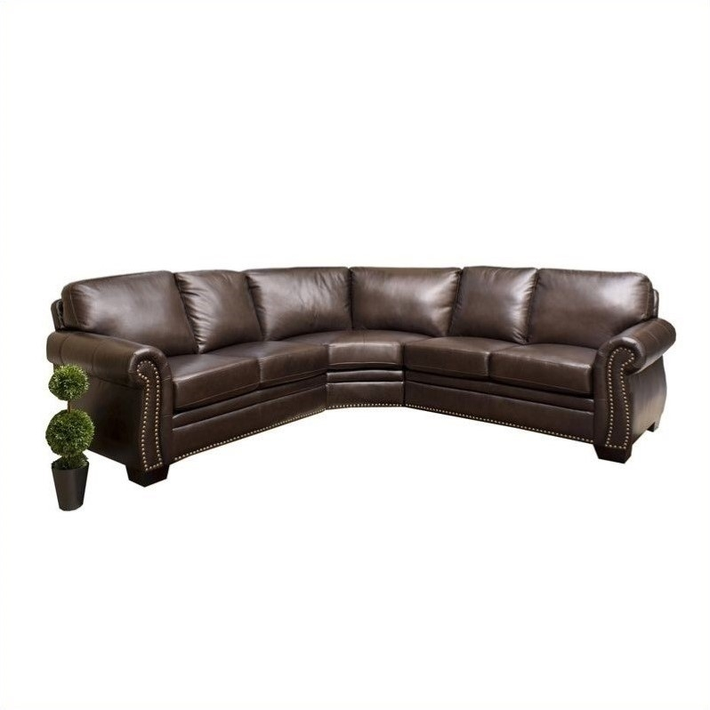 Sectional Sofas Sectionals Cymax effectively within Diana Dark Brown Leather Sectional Sofa Set (Image 19 of 20)