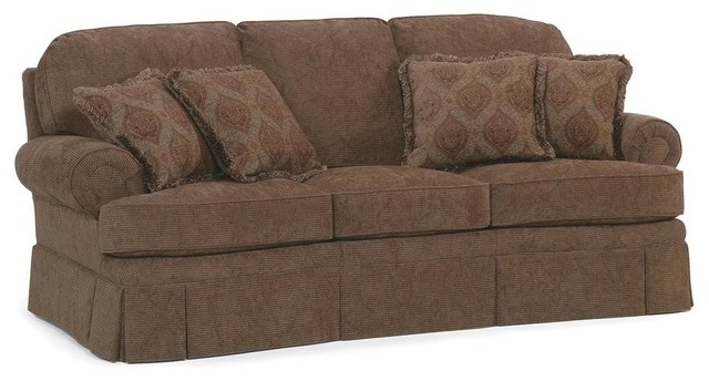 Semi Attached Back Sofa W Cushion Fabric Amber Traditional clearly regarding Traditional Fabric Sofas (Image 10 of 20)