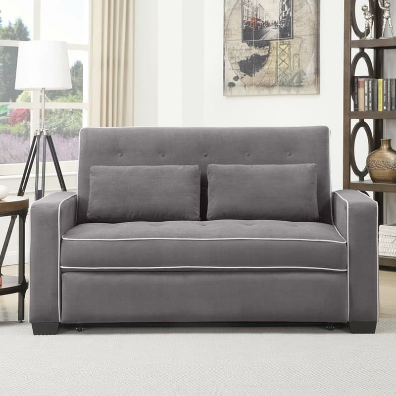 Serta Augustine Convertible Sofa Bed effectively regarding Sofa Lounger Beds (Image 18 of 20)