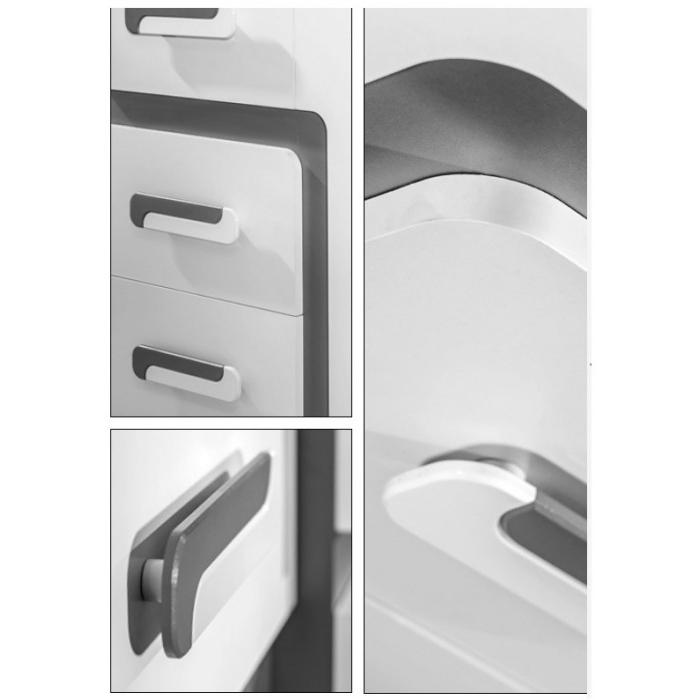Shades Of Grey 2 Door Wardrobe With Shelves nicely inside 2 Door Wardrobe With Drawers and Shelves (Image 17 of 30)