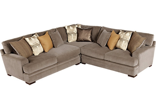 Shop For A Cindy Crawford Home Fontaine 3 Pc Sectional At Rooms To most certainly throughout Cindy Crawford Home Sectional Sofa (Image 17 of 20)