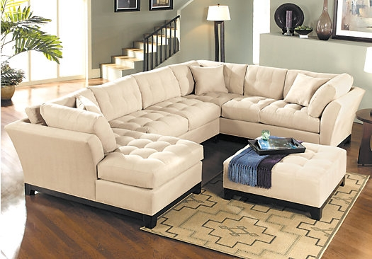 Shop For A Cindy Crawford Home Metropolis Vanilla Left 4 Pc certainly pertaining to Cindy Crawford Home Sectional Sofa (Image 19 of 20)