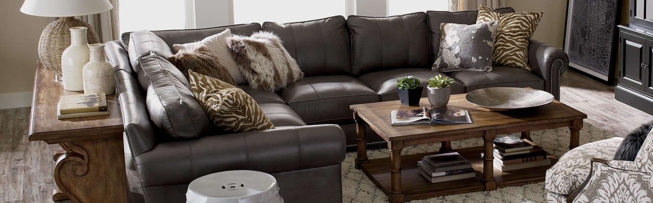 Shop Sectionals Leather Living Room Sectionals Ethan Allen effectively within Ethan Allen Sofas And Chairs (Image 17 of 20)