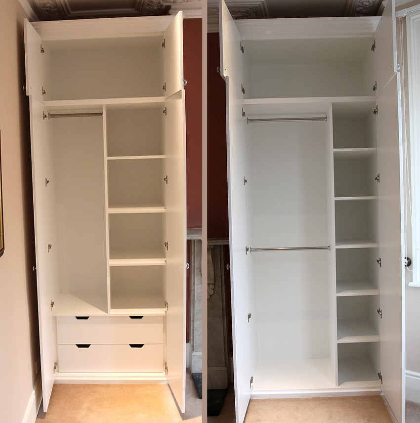 Showing A Sample Of The Interiors Of Our Fitted Wardrobes nicely throughout Wardrobes With Shelves and Drawers (Image 3 of 20)