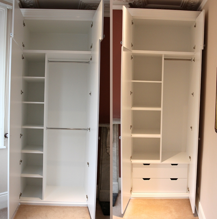 Showing A Sample Of The Interiors Of Our Fitted Wardrobes very well inside Wardrobe With Shelves And Drawers (Image 5 of 30)