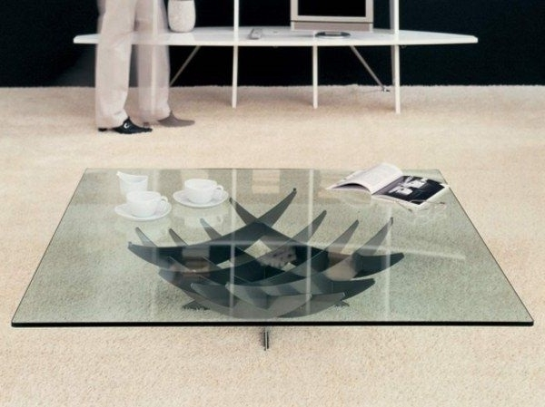 Silver Metal Coffee Table Unusual Frame Composing Glass Coffee definitely regarding Unusual Glass Top Coffee Tables (Image 26 of 30)