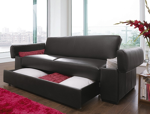 Simple Sofa Bed With Storage Ideas certainly within Leather Sofa Beds With Storage (Image 17 of 20)