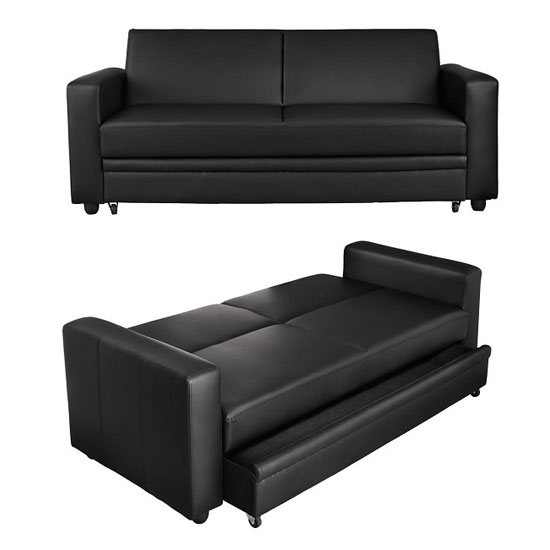 Featured Photo of Leather Sofa Beds With Storage