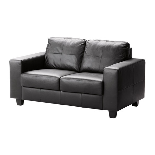 Skoga Loveseat Robust Glose Bomstad Black Cushion Filling effectively for Black 2 Seater Sofas (Image 20 of 20)