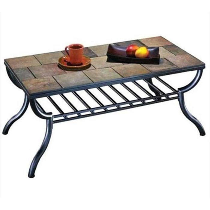 Slate Tile Coffee Table Best Modern Coffee Table For Round Coffee definitely throughout Round Slate Top Coffee Tables (Image 18 of 20)