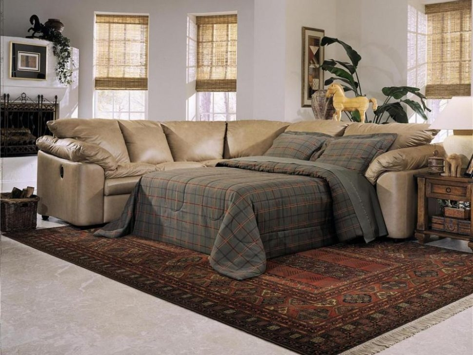 Sleeper Sofa Fascinating Sectional Sleeper Sofa With Recliners properly throughout Craftmaster Sectional Sofa (Image 15 of 20)