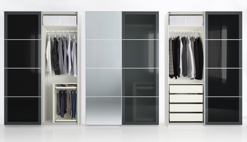 Sliding Wardrobe Frames Ikea properly pertaining to Large Double Rail Wardrobes (Image 26 of 30)