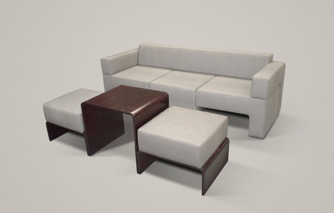 Slot Sofa Compact Modular Couch Contains Table Chairs properly pertaining to Compact Sectional Sofas (Image 11 of 20)