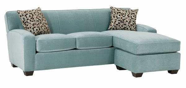 Small Fabric Sleeper Sectional Sofa With Reversible Chaise Club Effectively With Mini Sofa Sleepers (View 9 of 20)