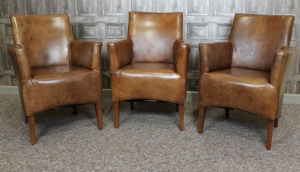 Small Leather Armchair effectively intended for Small Armchairs (Image 18 of 20)