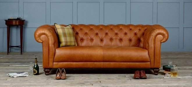 Small Leather Chesterfield Sofa Thesofa Properly Intended For Small Chesterfield Sofas (View 18 of 20)