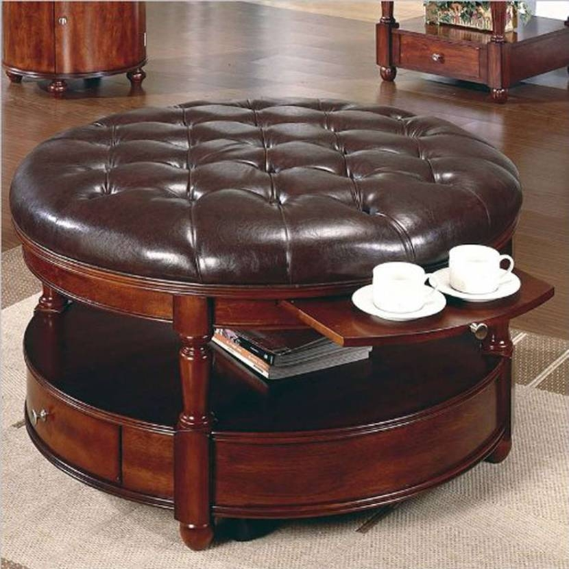 Small Round Coffee Table With Storage Starrkingschool Jericho clearly inside Brown Leather Ottoman Coffee Tables With Storages (Image 19 of 20)