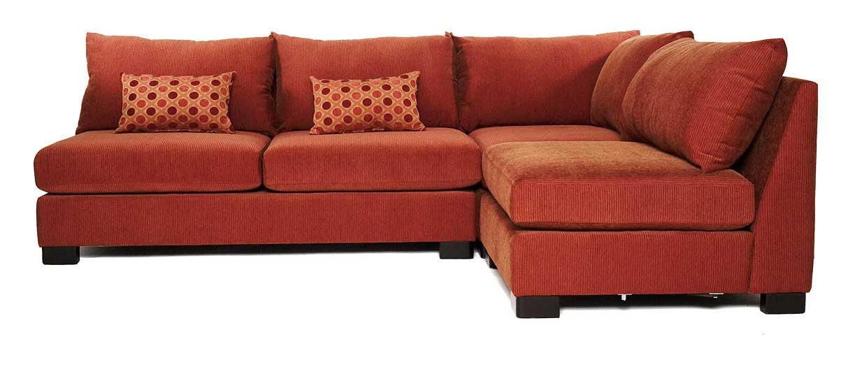 Small Terracota Armless Sectional Sofas With Sleeper S3net effectively with Sleeper Sectional Sofas (Image 17 of 20)