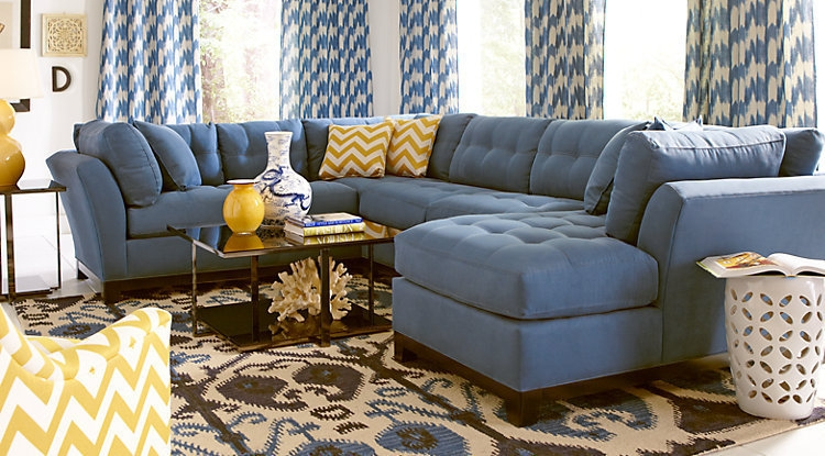 Sofa Astonishing Rooms To Go Sectional Couches 2017 Ideas Rooms certainly with Blue Tufted Sofas (Image 19 of 20)