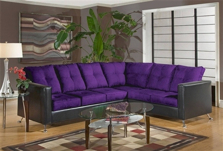 Sofa Beds Design Awesome Traditional Eggplant Sectional Sofa Properly  Intended For Eggplant Sectional Sofa (Image