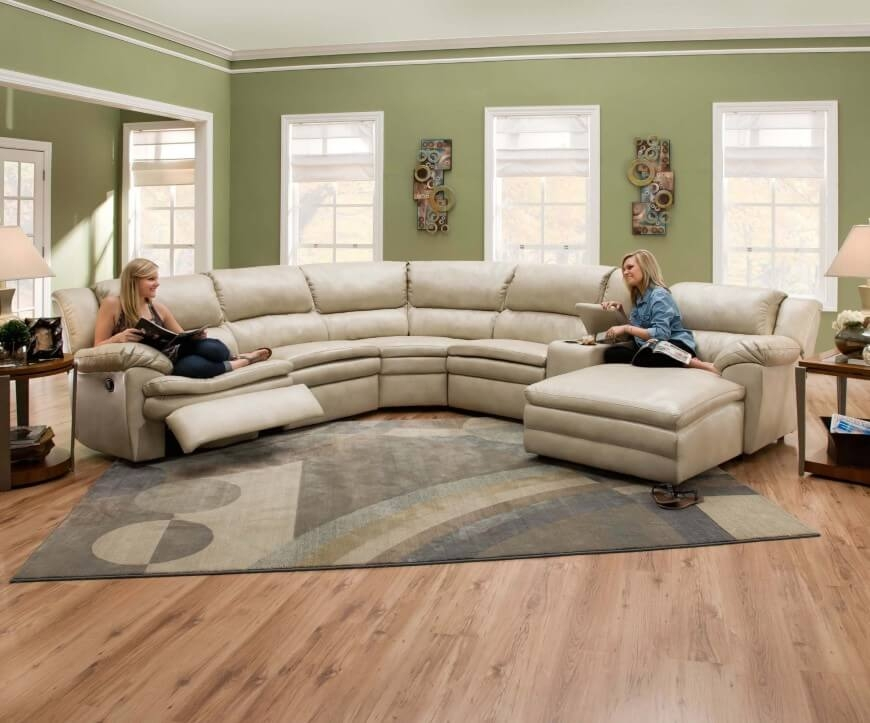 Sofa Beds Design Breathtaking Ancient Curved Sectional Sofa With Clearly Throughout Curved Sectional Sofa With Recliner (View 10 of 20)